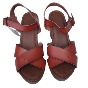 Universal Thread Brown Estella Wedge Sandals